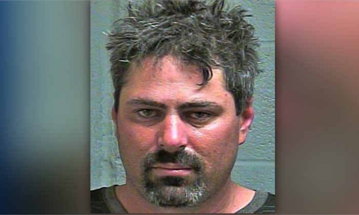 Brandon Ganus faces numerous charges following his arrest onboard a flight from Pittsburgh to Dallas that had to be diverted to Oklahoma City on June 16 to due to his alleged disorderly conduct. (Oklahoma City Police Department)