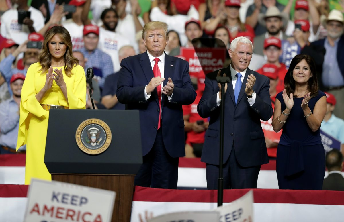 Donald Trump, Melania Trump, Mike Pence, Karen Pence