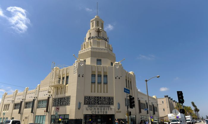 General view of the Church of Scientology community center in the neighborhood of South Los Angeles, California, on June 5, 2013. (Kevork Djansezian/Getty Images)