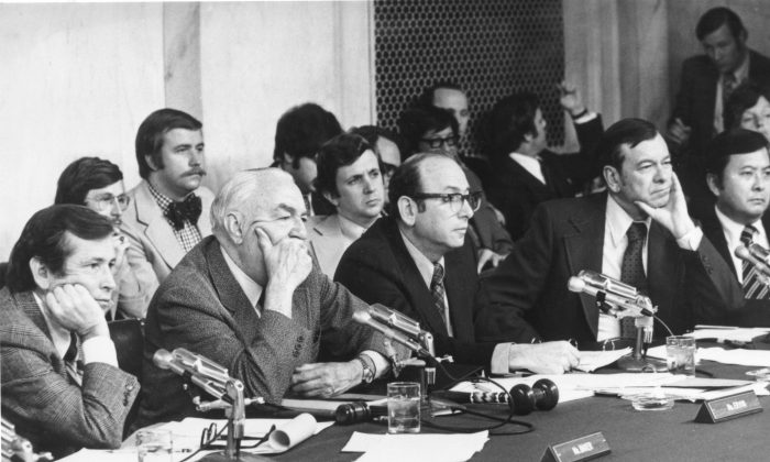 Sen. Herman Talmadge (D-Ga.), second from right, with other officials in a file photo. (Gene Forte/Getty Images)