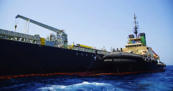 The Panama-flagged, Japanese owned oil tanker Kokuka Courageous