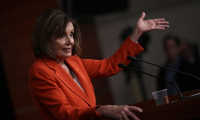 U.S. Speaker of the House Nancy Pelosi (D-CA) answers questions during her weekly news conference at the U.S. Capitol June 5, 2019 in Washington, DC. Win McNamee/Getty Images