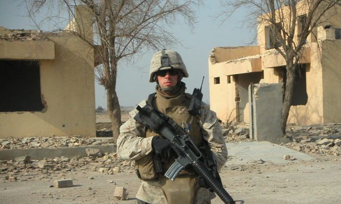Matt Bloom in Fallujah, Iraq. (Courtesy of Nick Benas)