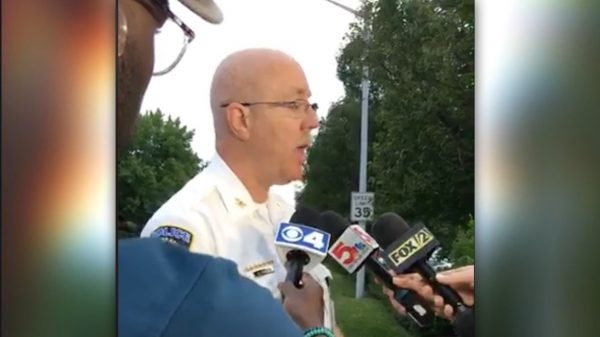 police chief at press conference