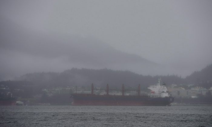 In this file photo, a ship is moored in Prince Rupert, B.C. on Dec. 11, 2012. (Jonathan Hayward/The Canadian Press)