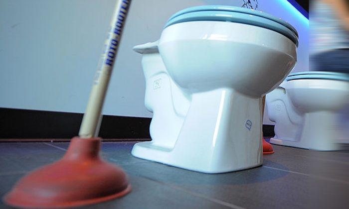 Stock image of a toilet. (JJoe Klamar/AFP/Getty Images)