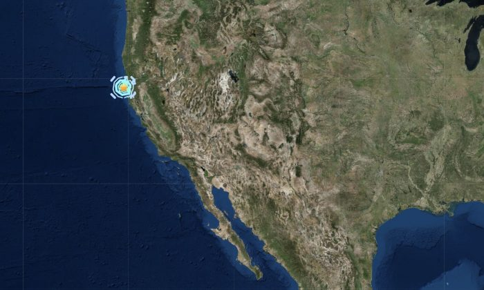 5.6 magnitude earthquake hits northern California on June 22, 2019. (USGS)
