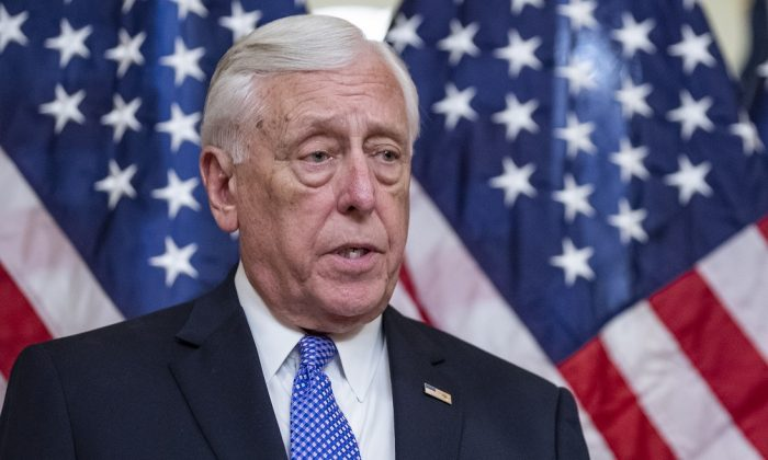 House Majority Leader Steny Hoyer, (D-Md.) in Washington on April 9, 2019. (Alex Edelman/Getty Images)
