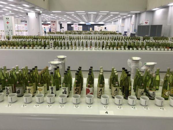 bottles of award winning japanese sake at japanese sake fair