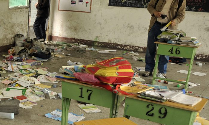 A messy classroom in China. (Peter Parks/AFP/Getty Images)
