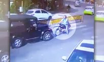 Biker Sees SUV Driving on the Wrong Side of the Road, Decides to Teach Him a Lesson