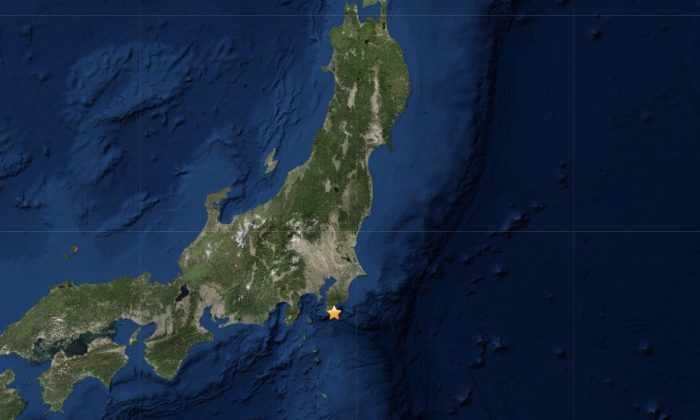 Location of earthquake in Japan on June 24, 2019. (USGS)