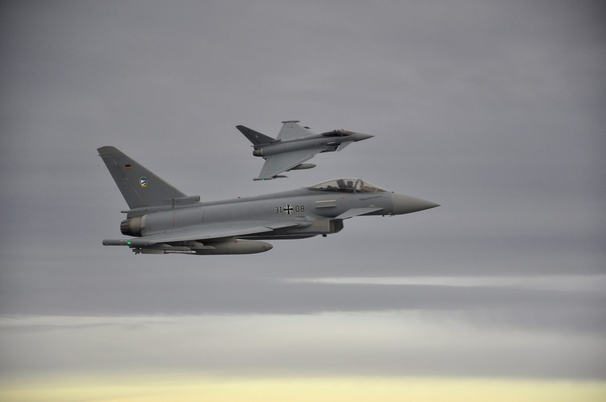 Two German Eurofighter jets