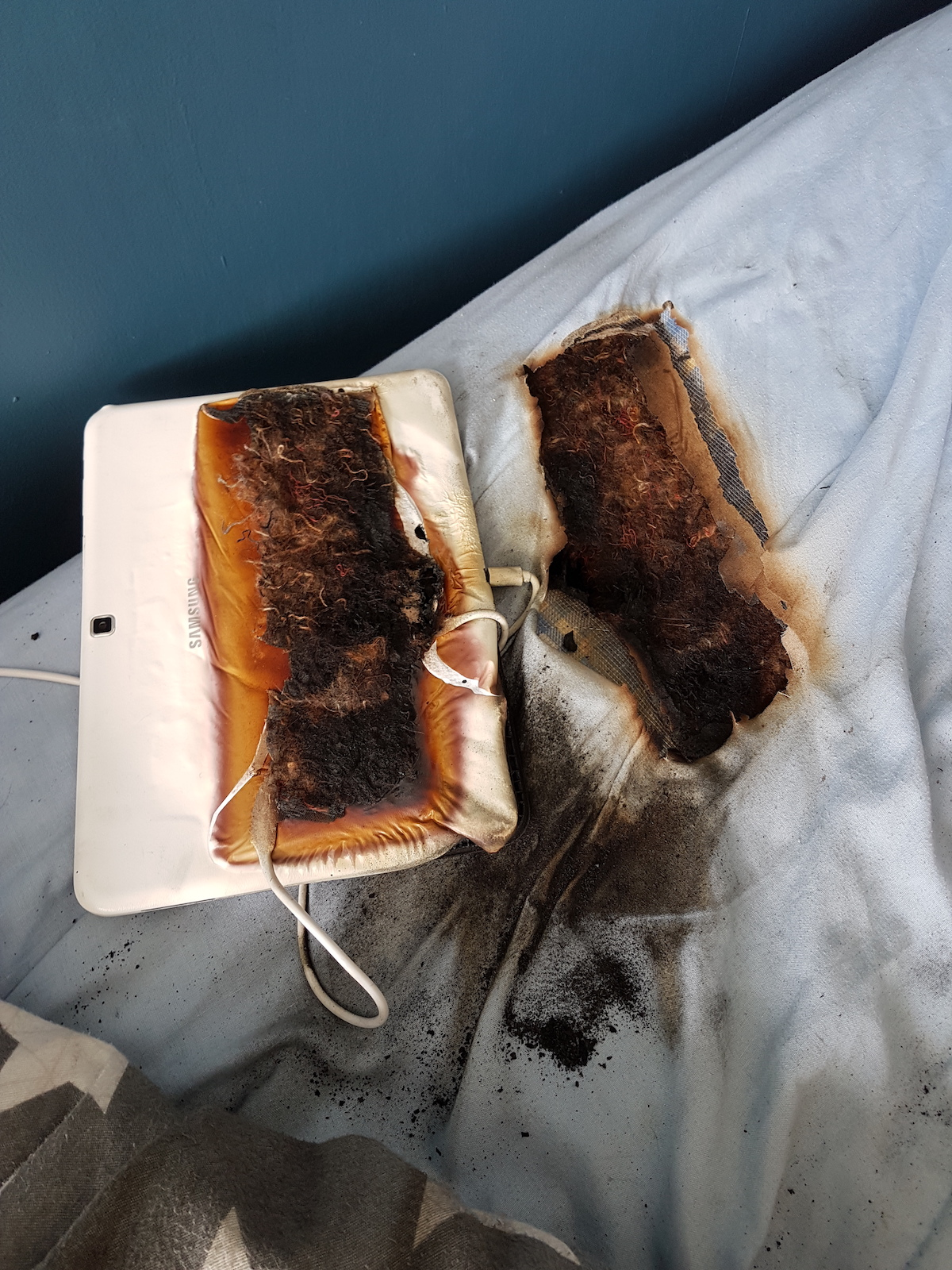 'Lucky Escape' for 11-Year-Old as Hot Tablet Burns Through Mattress as He Sleeps