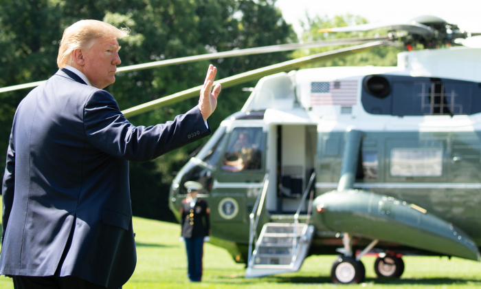 President Donald Trump walks to Marine One prior to departing from the South Lawn of the White House on June 22, 2019, as he travels to Camp David, Md. (Saul Loeb/Getty Images)