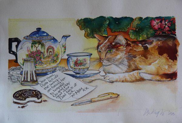 Cat teapot tea