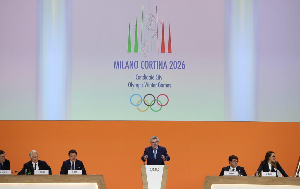 IOC President Thomas Bach addresses