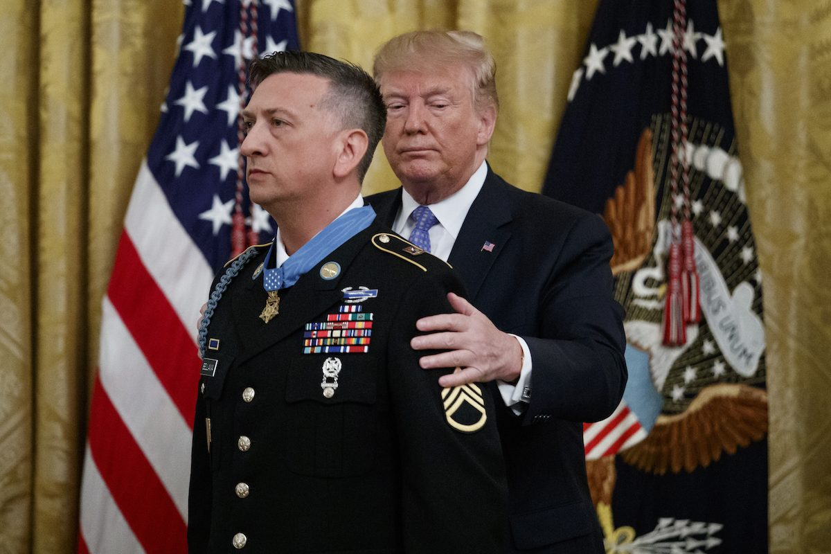 President Donald Trump awards the Medal of Honor