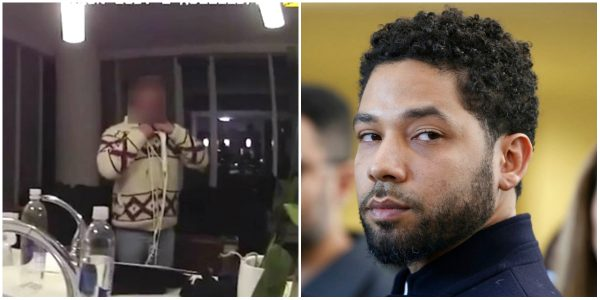 Jussie Smollett being interviewed by Chicago Police