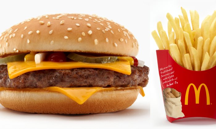 A McDonalds quarter pound hamburger with french fries. (Courtesy of McDonalds USA)