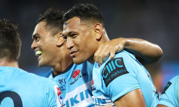 Israel Folau in Sydney, Australia on March 23, 2019. (Mark Kolbe/Getty Images)