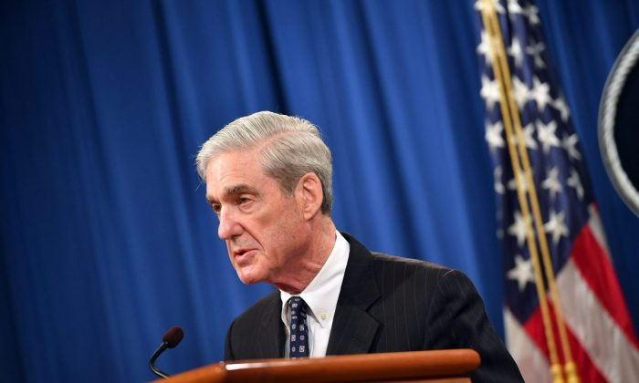 Special counsel Robert Mueller speaks on the investigation into Russian interference in the 2016 presidential election, at the Justice Department in Washington on May 29, 2019. (Mandel Ngan/AFP/Getty Images)