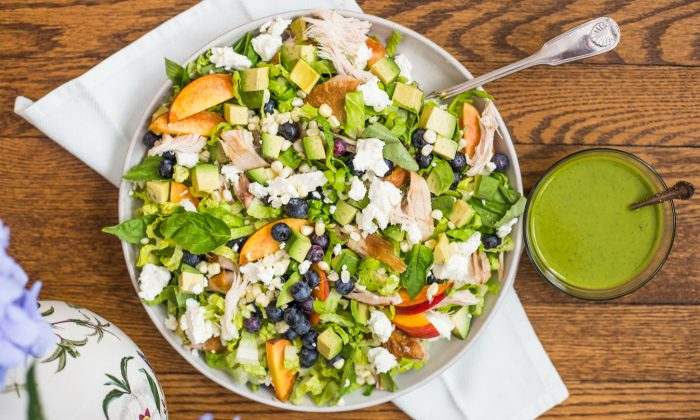 This fully loaded summer salad is more a matter of assembly than cooking. (Caroline Chambers)