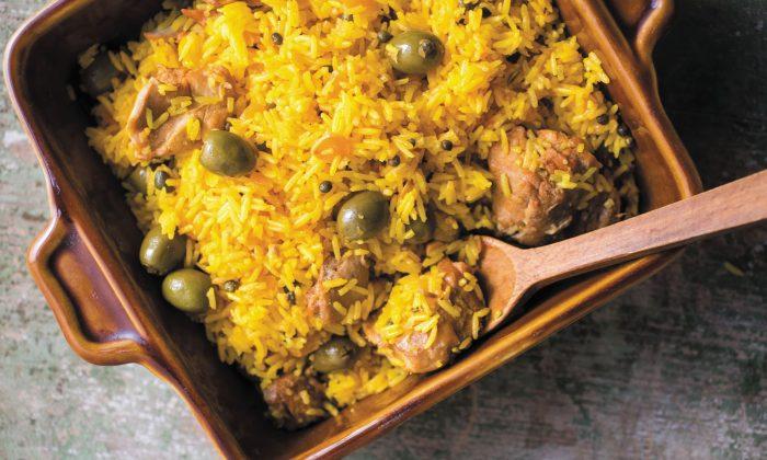 Sheila's arroz con pollo. (Andrew Scrivani)