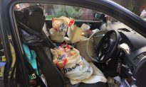 Police Post Photo of Car So Messy the Driver Couldn't Grab Hand Brake and Crashed