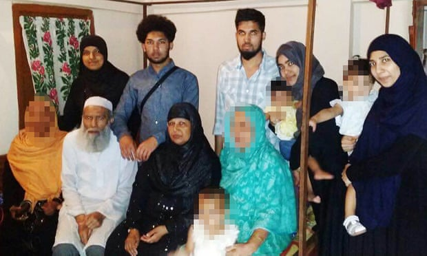 Group photo of the Mannan family, who left their British home in Luton in 2015 to join ISIS in Syria. (Bedfordshire Police)
