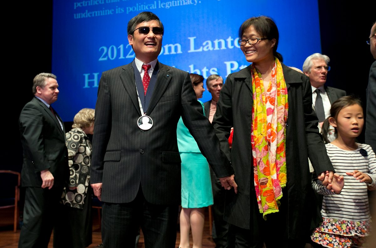 Chinese Activist Chen Guangcheng Receives The Tom Lantos Human Rights Award