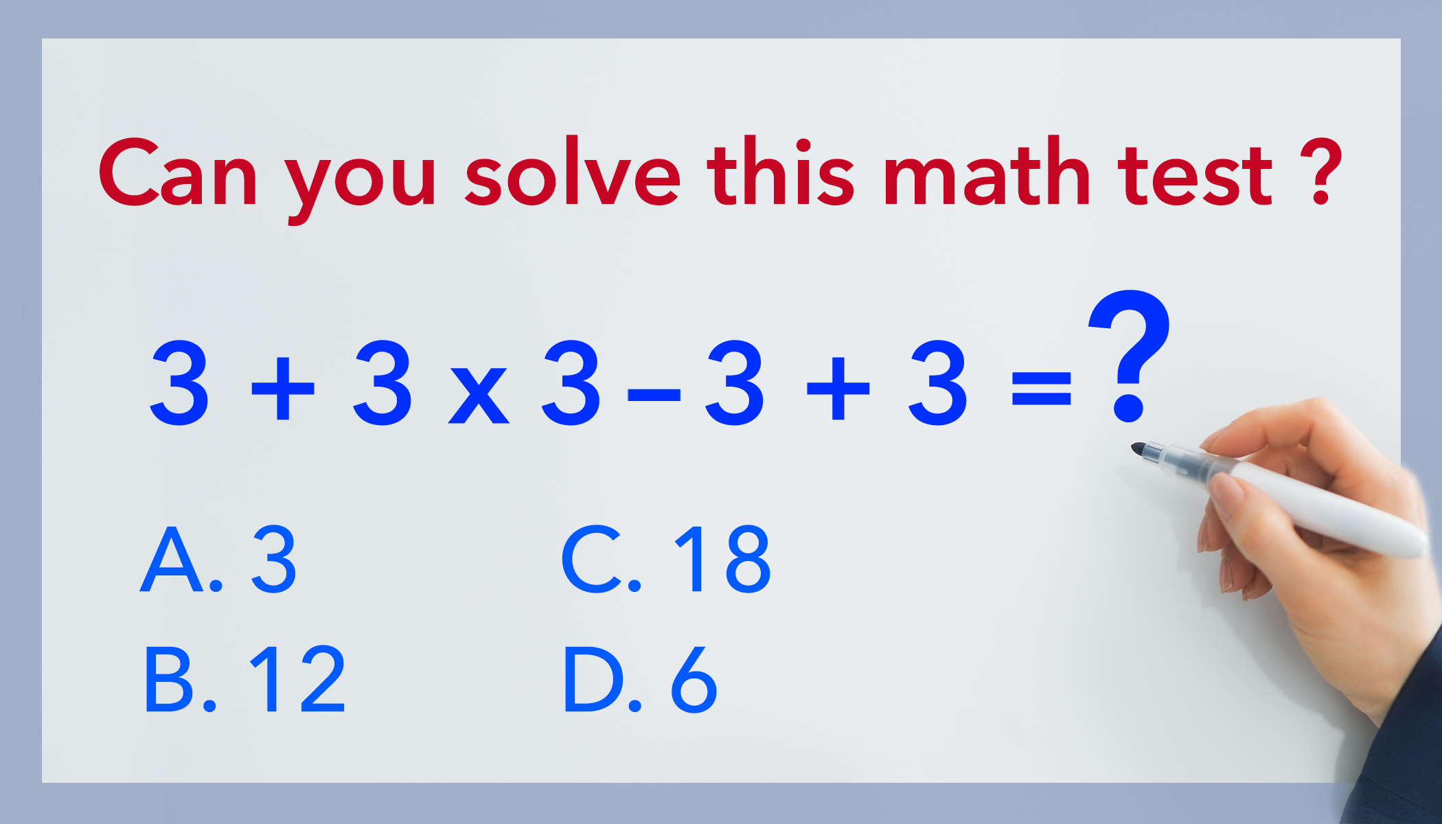 Are You Smart Enough to Solve This Math Problem? Most People Get It Wrong!