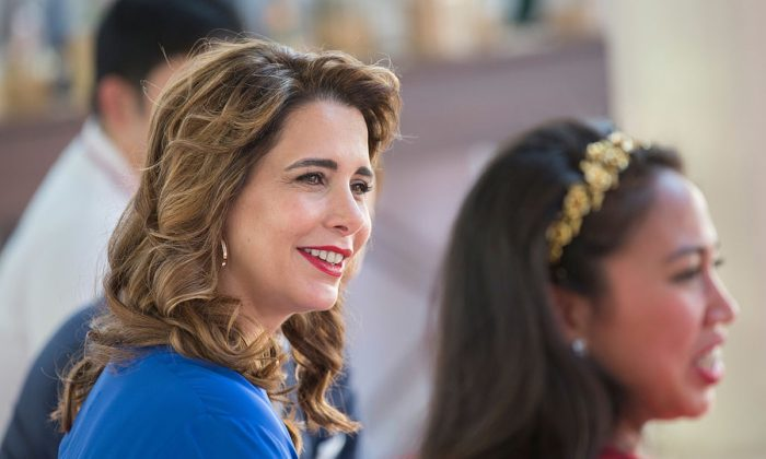 Princess Haya bint Al Hussein in her role as Patron attends the Cartier International Dubai Polo Challenge at Desert Palm Hotel in Dubai, United Arab Emirates on Nov. 5, 2016. (The Office of Princess Haya of Jordan via Getty Images)