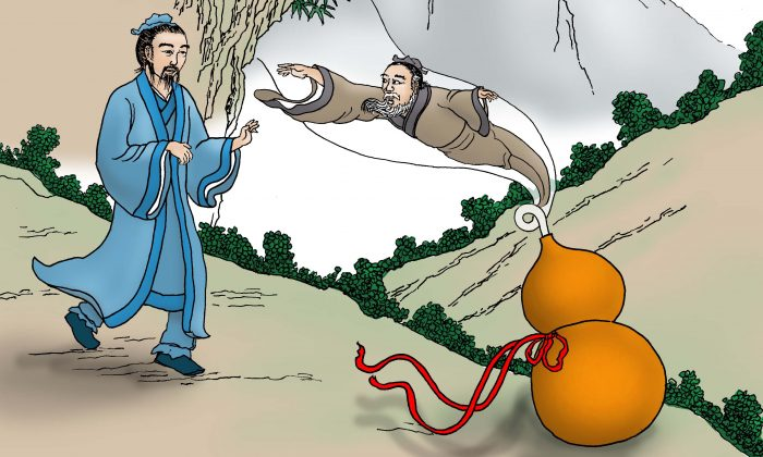 Fei Changfang witnessed the old man jumping into a gourd. ( Sun Mingguo / The Epoch Times)