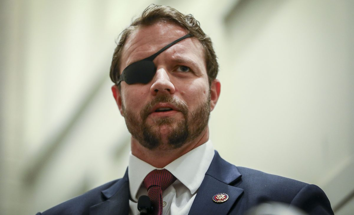 Rep. Dan Crenshaw (R-Texas) at the CPAC convention in National Harbor,