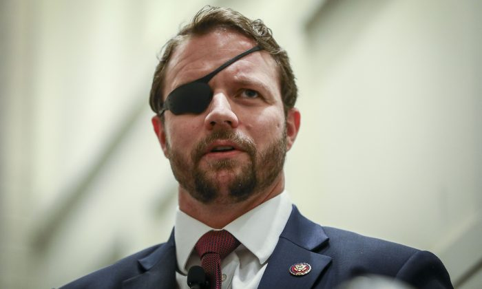 Rep. Dan Crenshaw (R-Texas) at the CPAC convention in National Harbor, Md., on Feb. 27, 2019. (Samira Bouaou/The Epoch Times)