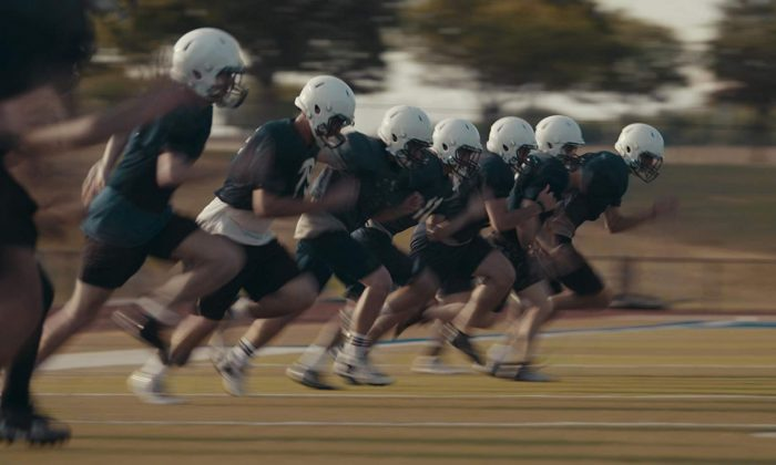 "The high school football team The Saints in practice, in ""The Last Whistle."" (TLW Prod LLC)"