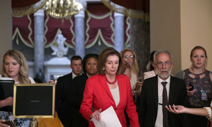 U.S. Speaker of the House Rep. Nancy Pelosi (D-CA) walks towards the House chamber for a vote June 27, 2019 at the U.S. Capitol in Washington, DC. Pelosi said she will bring the Senate version of a $4.5 billion bill on combating the humanitarian crisis at the southern border to the House floor for a vote after initially saying she wanted to reconcile the House and Senate versions.  Alex Wong/Getty Images)