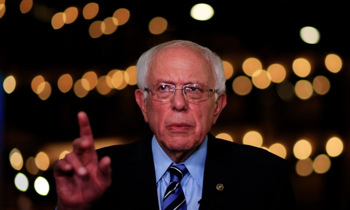 Democratic presidential candidate Sen. Bernie Sanders (I-VT) speaks to the media after the second night of the first Democratic presidential debate on June 27, 2019 in Miami, Florida.   Cliff Hawkins/Getty Images