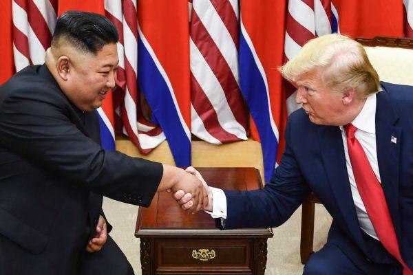 Trump and Kim DMZ