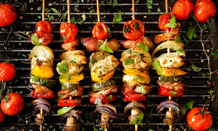 Vegetable skewers are a fresh and healthy option for the grill. (Shutterstock)