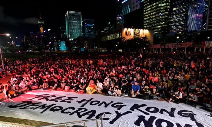Protesters gather as they rally against a controversial extradition bill in Hong Kong on June 26, 2019. (Anthony Wallace/AFP/Getty Images)