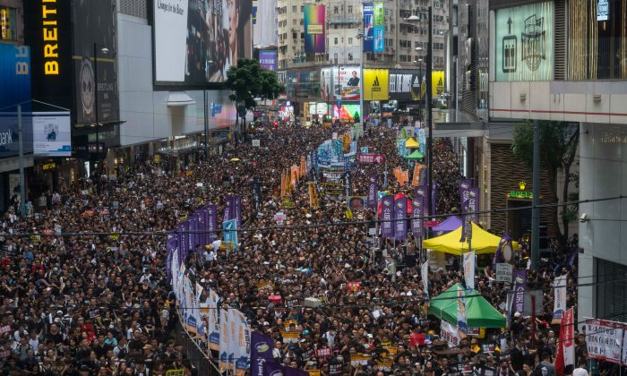 Protesters take part in a rally against extradition bill on July 1, 2019 in Hong Kong, China. (Billy H.C. Kwok/Getty Images)