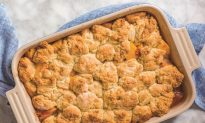 Peach and Ricotta Biscuit Cobbler