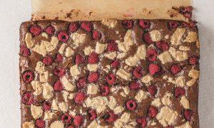 Raspberry Halva Brownies