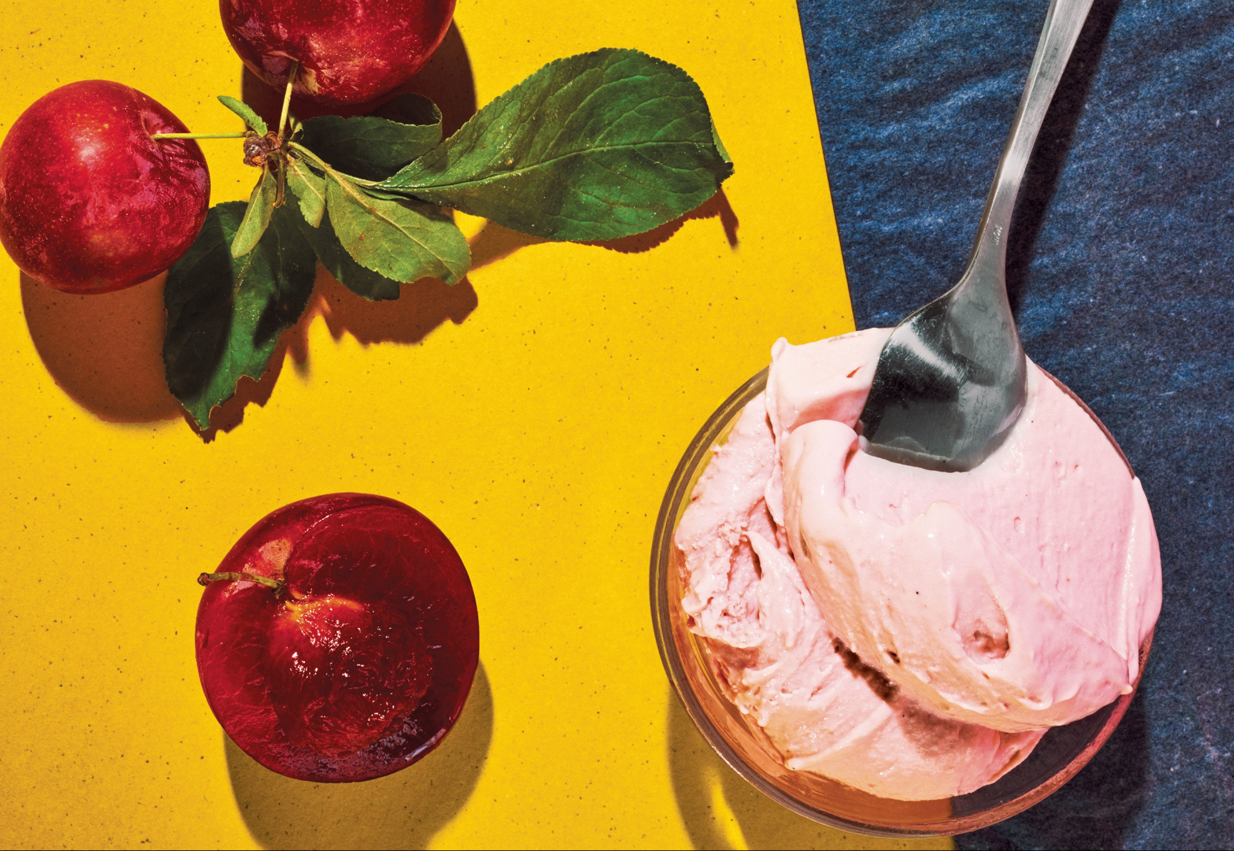 vanilla plum ice cream