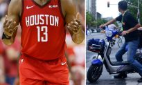 NBA Superstar James Harden on Moped Pulled Over in Shanghai