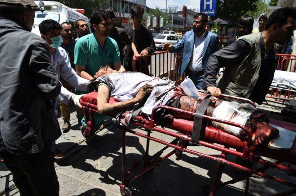 Afghan bombing victim