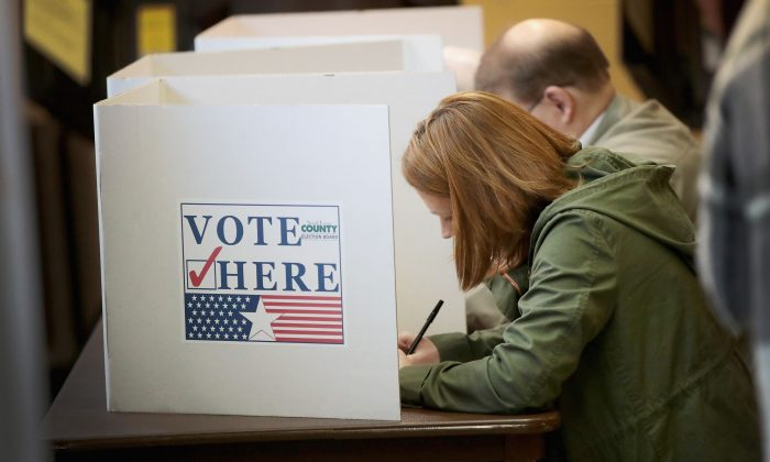 Voters cast ballots at a polling place in Kirkwood, Miss., on Nov. 6, 2018. (Scott Olson/Getty Images)
