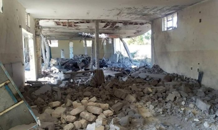 The damage inside the detention center in Tripoli's Tajoura neighborhood after an airstrike on July 3, 2019. (AP Photo)